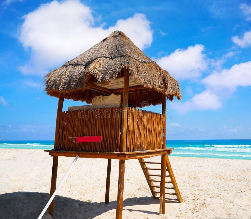 Playa Marlin i den Cancun stranden i Mexico royaltyfri fotografi