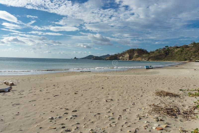 Playa Marsella, San Juan del Sur, NicaraguaRocky beach of Nicaragua with few waves, beautiful sunrise stock photos