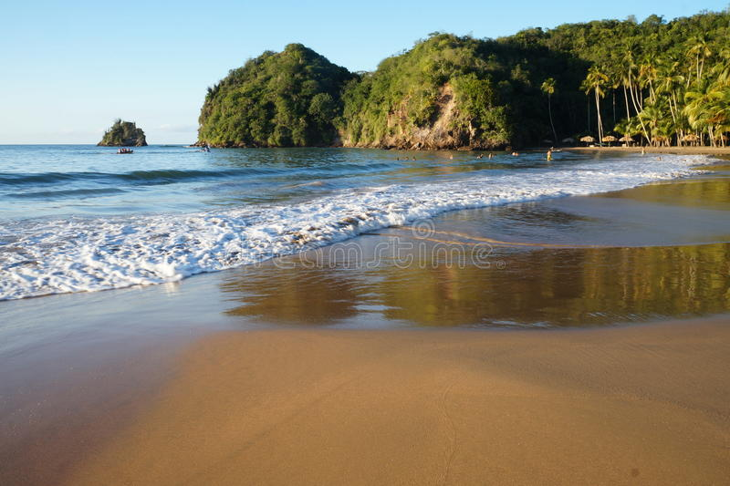 PLAYA MEDINA, playa del Caribe imagen de archivo