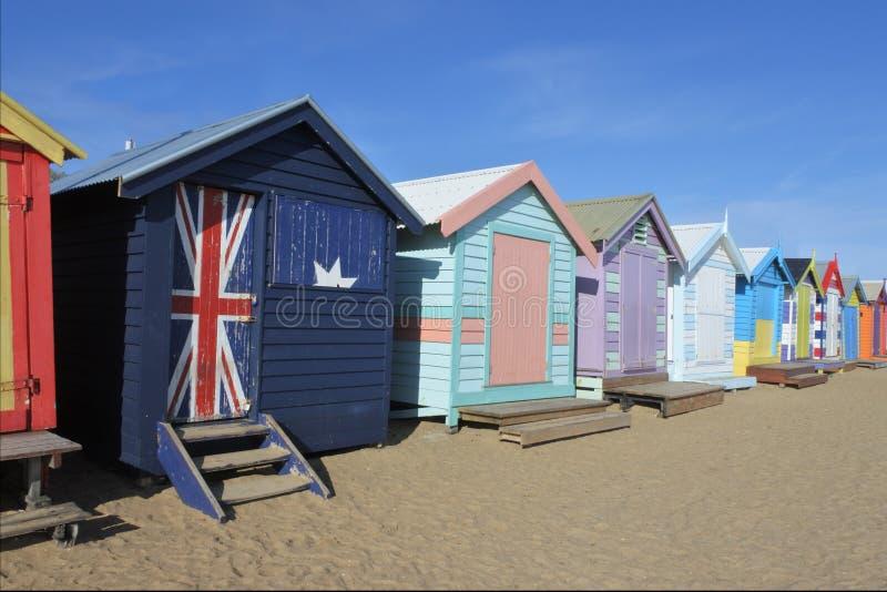 Playa Melbourne Victoria Australia de Brighton imagenes de archivo