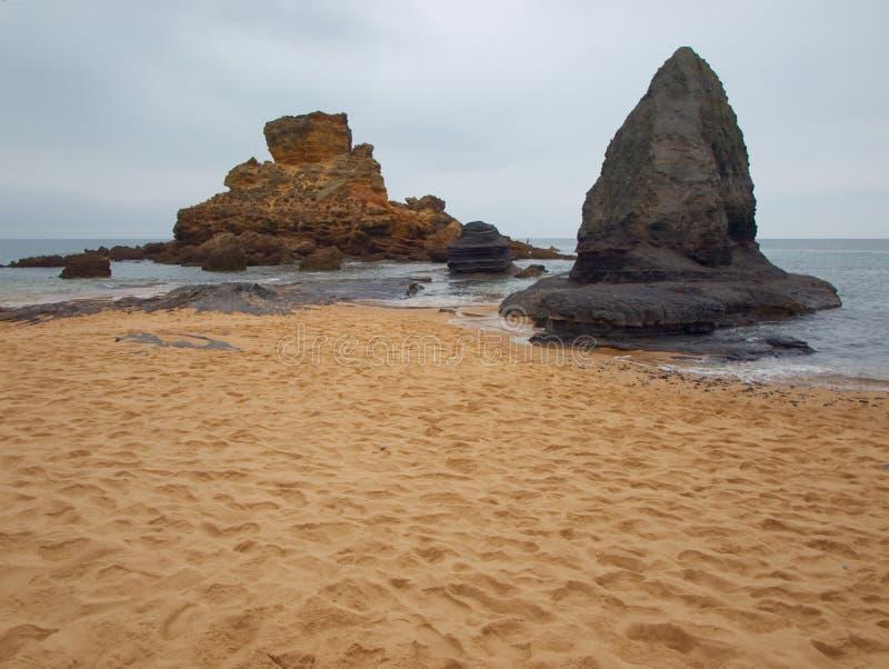 Playa misteriosa II de Algarve imágenes de archivo libres de regalías