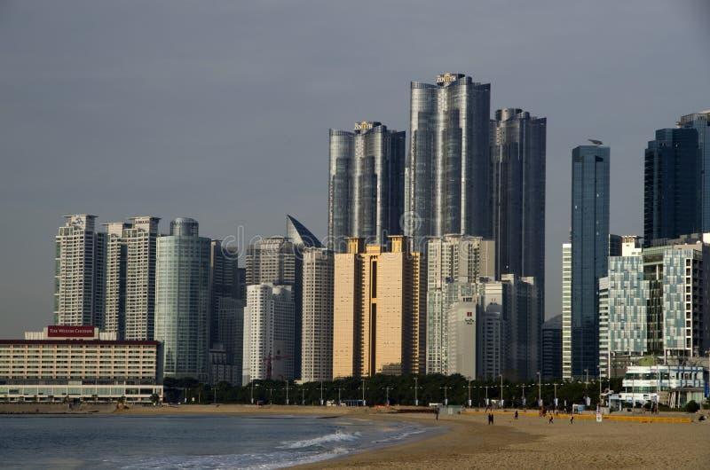 Playa moderna Busán Corea de Haeundae de la arquitectura fotografía de archivo