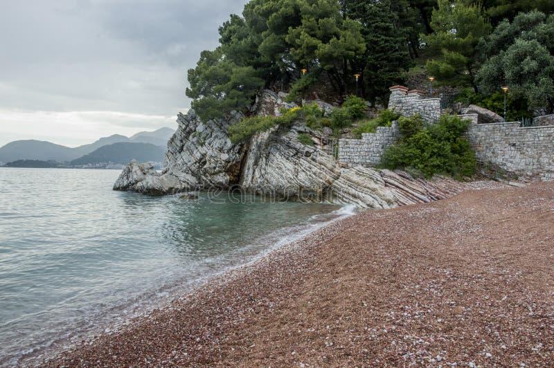 Playa (Montenegro) imagen de archivo libre de regalías