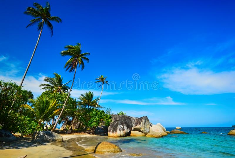 Playa Natuna3 de la isla Indonesia imagenes de archivo
