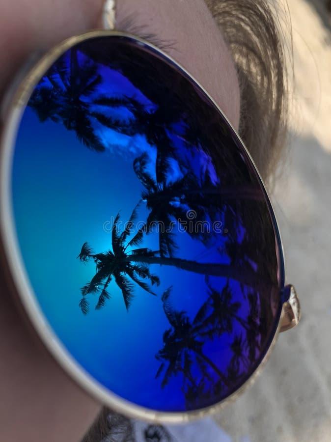 playa natural de las gafas de sol fotografía de archivo libre de regalías