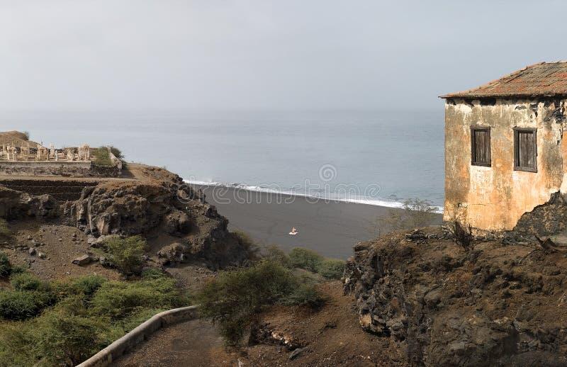 Playa negra foto de archivo libre de regalías