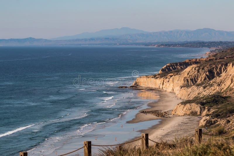 Playa negra del ` s en San Diego, California foto de archivo libre de regalías
