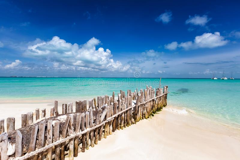 Playa Norte op Isla Mujeres stock foto's