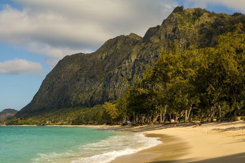 Playa Oahu Hawaii de Waimanalo foto de archivo