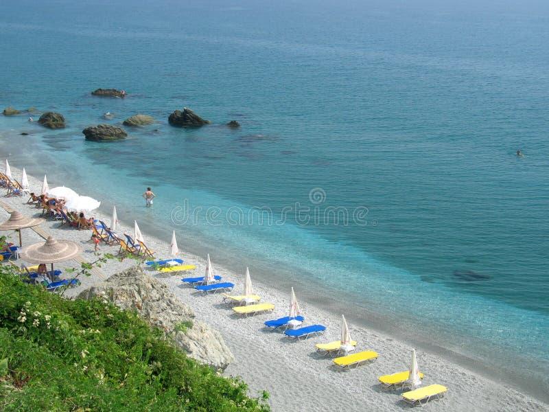 Playa ordenada imagen de archivo