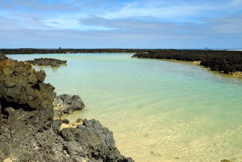 Playa Orzola en Lanzarote, España foto de archivo libre de regalías