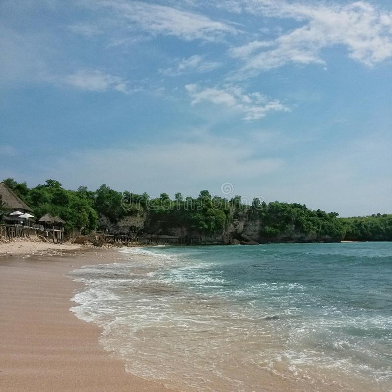 Playa pacífica imagenes de archivo