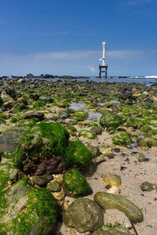 Playa Pacitan Java Indonesia del este de Pidakan imagen de archivo libre de regalías