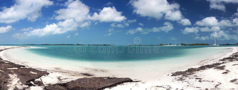Playa Paraiso Tropical Paradise Beach Panoramic Caribbean Sea Cayo Largo Cuba royalty free stock photos