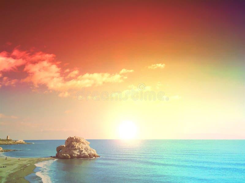 Playa Peñà ³ n del Cuervo zdjęcie royalty free