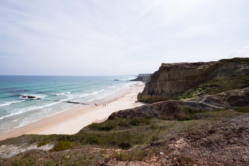 Playa Peniche, Portugal de Baleal fotos de archivo
