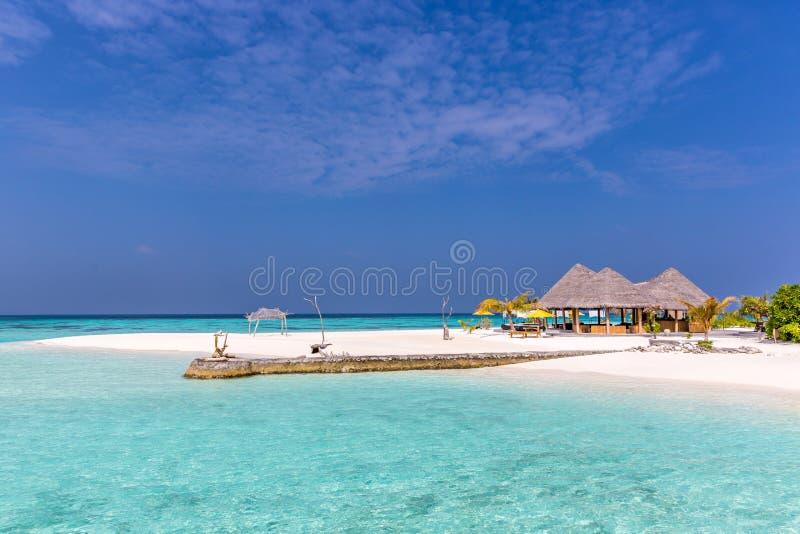 Playa perfecta, isla asombrosa en el Océano Índico imágenes de archivo libres de regalías