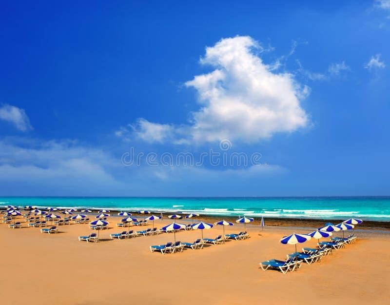Playa Playa Las Américas de Adeje en Tenerife imagenes de archivo