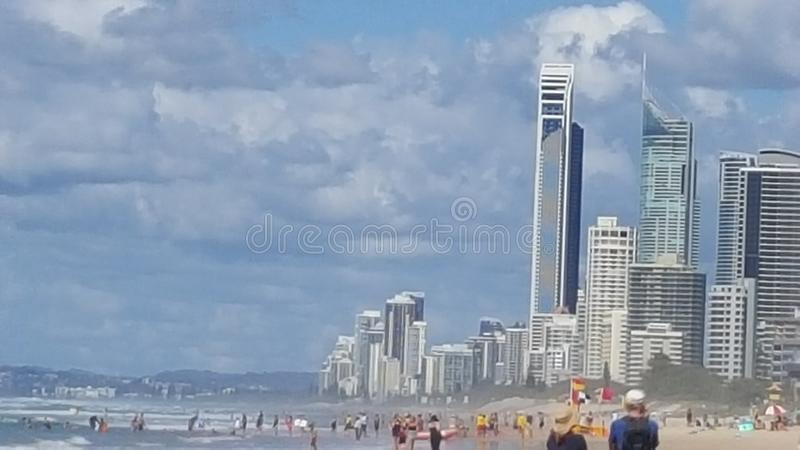 Playa principal Gold Coast imagen de archivo