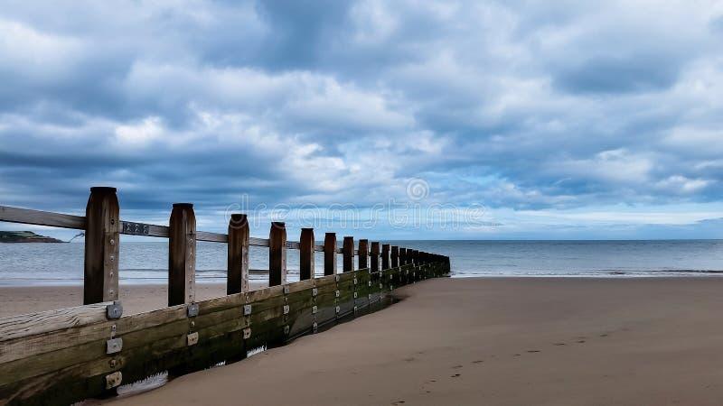 Playa, pueblo inglés, Dawlish Warren, Devon, Reino Unido imagen de archivo libre de regalías