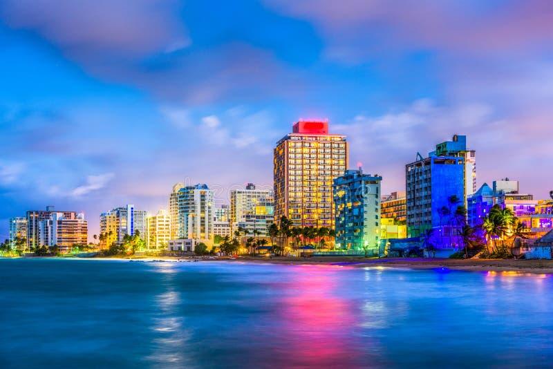 Playa Puerto Rico de Condado imagen de archivo libre de regalías