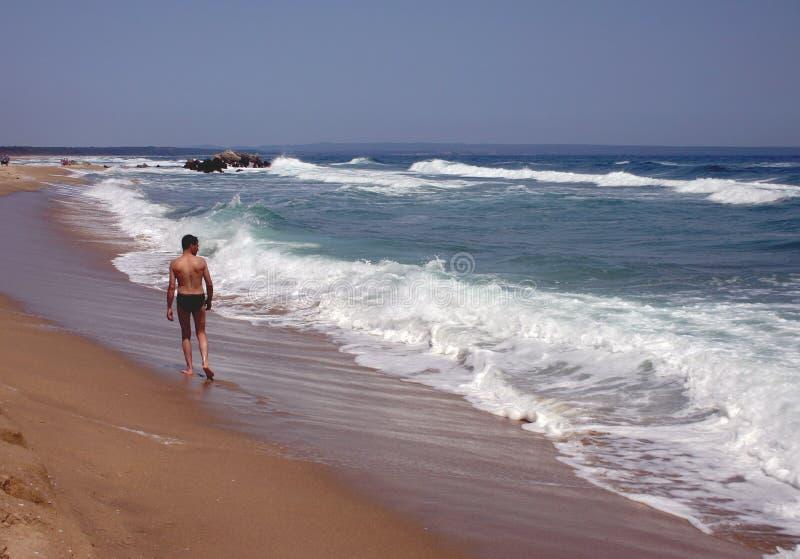 Playa que recorre foto de archivo