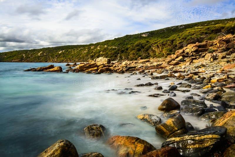 Playa rocosa Australia occidental fotografía de archivo