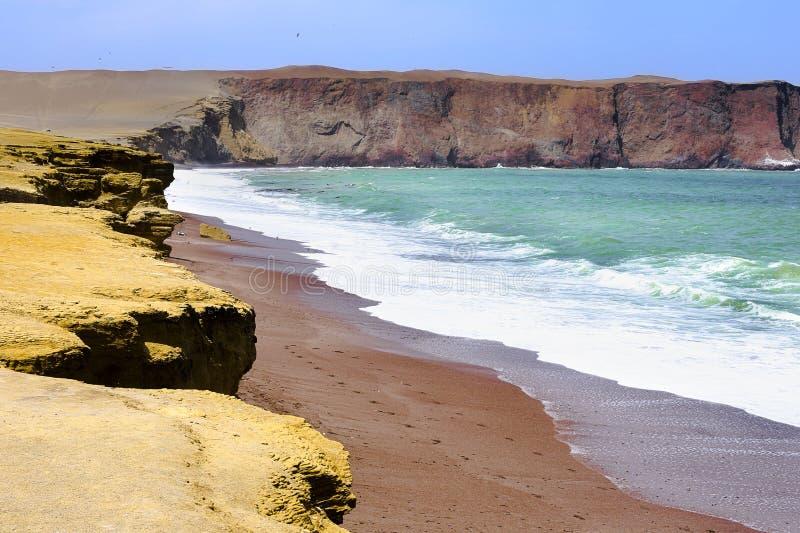 Playa Roja, Paracas, Perú fotografering för bildbyråer