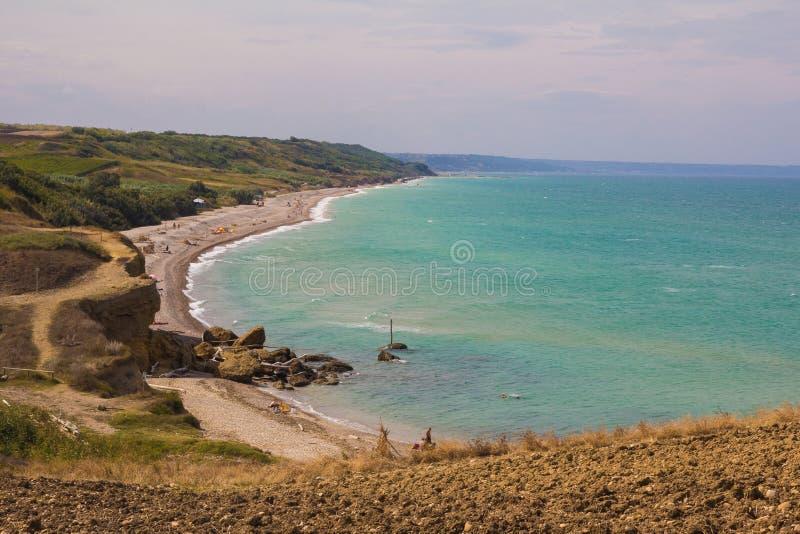 Playa salvaje de Abruzos fotografía de archivo