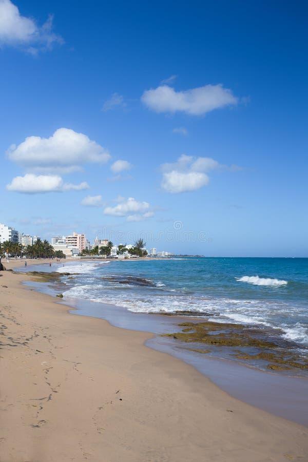 Playa San Juan Puerto Rico de Condado imagen de archivo