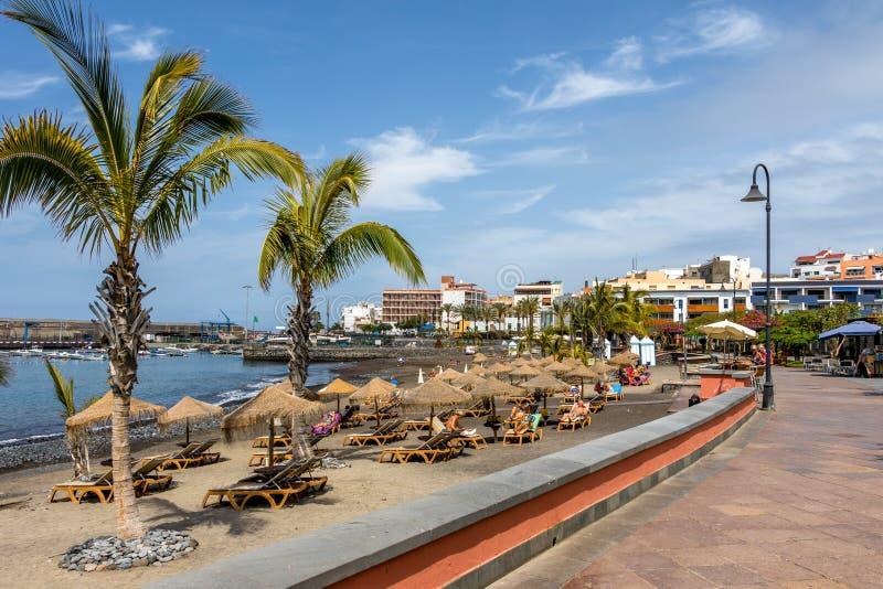 Playa San Juan Tenerife imagen de archivo