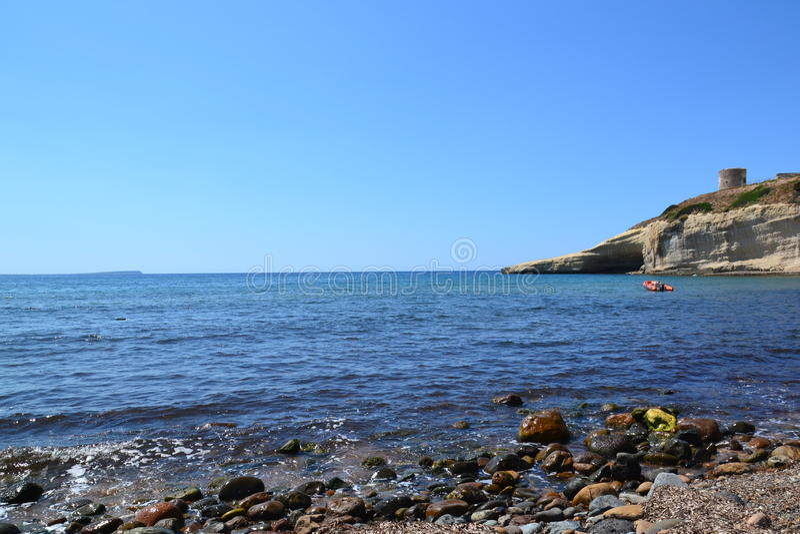 Playa Santa Caterina di Pittinuri - Cerdeña, Italia foto de archivo