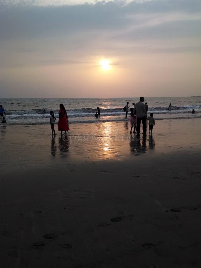 playa serena del juhu foto de archivo libre de regalías
