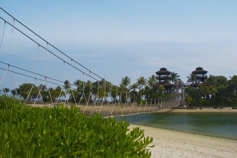 Playa Singapur de Sentosa fotografía de archivo