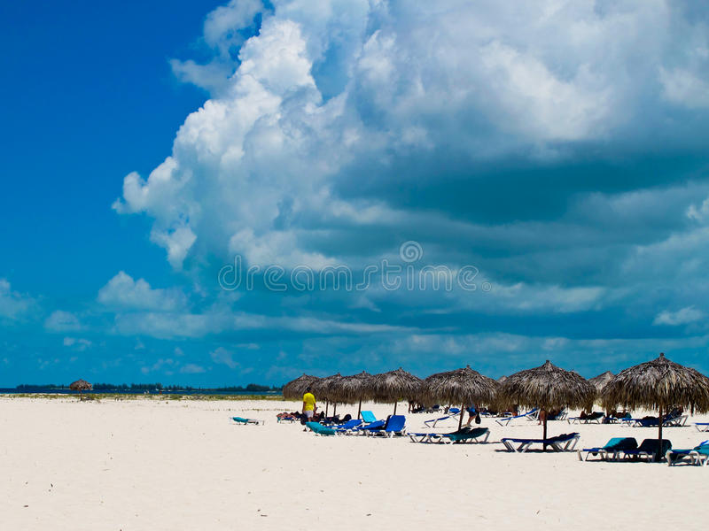 Playa Sirena (Cayo largo, Cuba, Caribbeans) fotografía de archivo