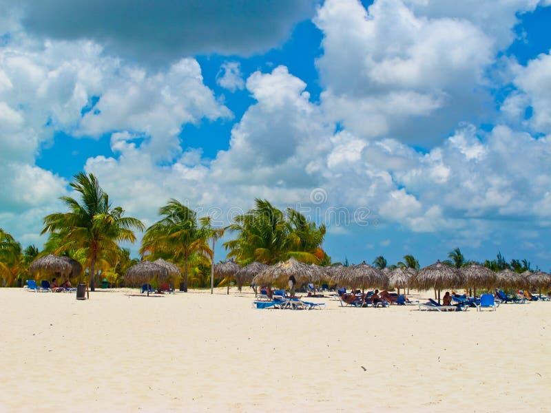 Playa Sirena (Largo Cayo, Cuba, Caribbeans) royalty-vrije stock fotografie