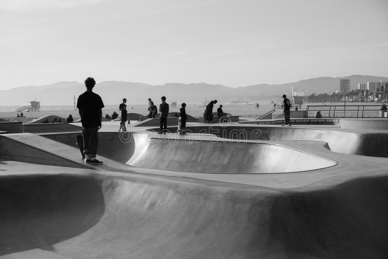 Playa Skatepark de Venecia fotografía de archivo libre de regalías