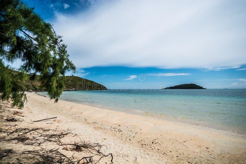 Playa sola agradable fotos de archivo libres de regalías