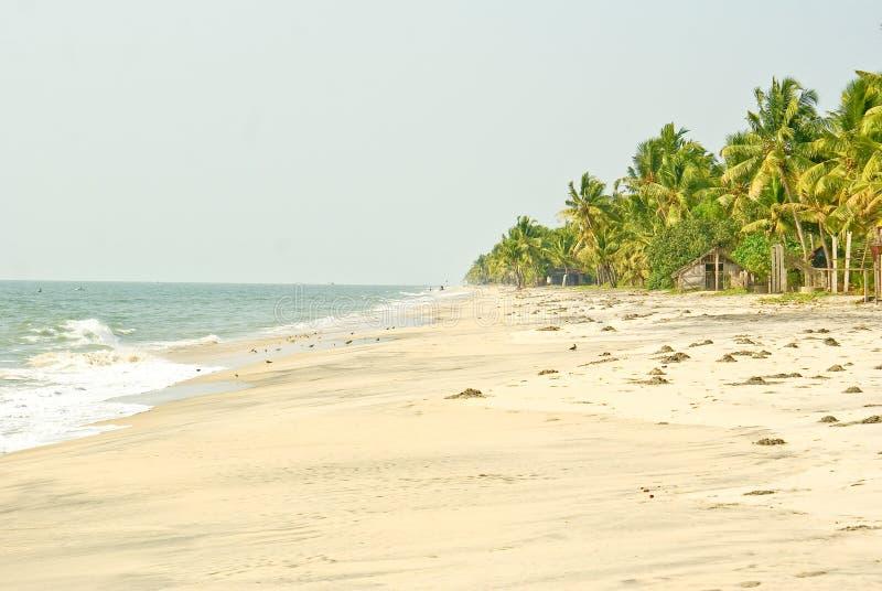 Playa sola en la India del sur fotos de archivo