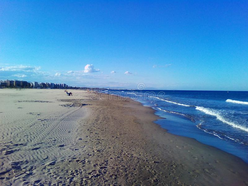 Playa solamente imagen de archivo