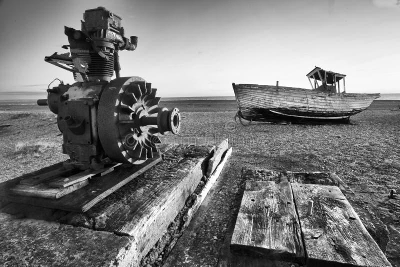 Playa solitaria foto de archivo libre de regalías