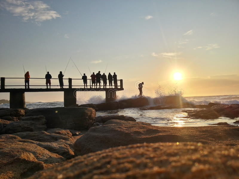 Playa Suráfrica de Uvongo imágenes de archivo libres de regalías