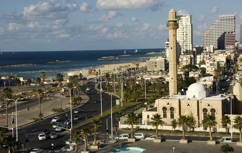 Playa Tel Aviv delantera fotos de archivo
