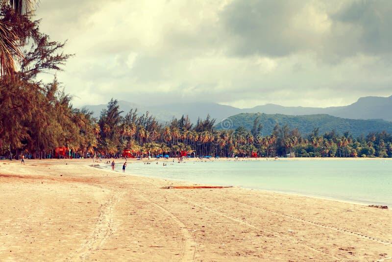 Playa tropical caliente imagen de archivo libre de regalías
