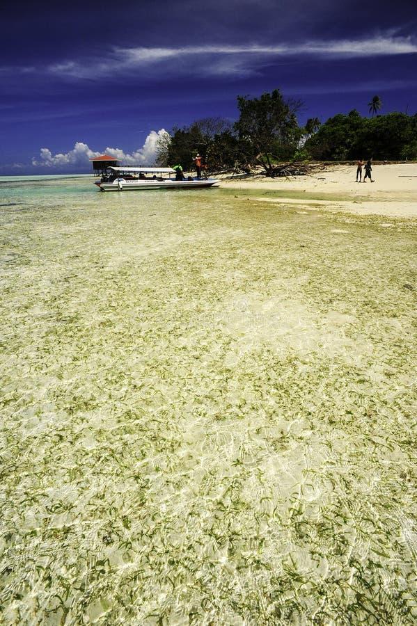 Playa tropical de Sabah fotografía de archivo libre de regalías