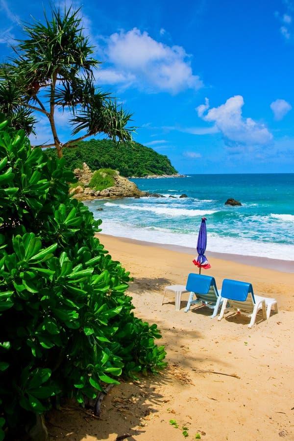 Playa tropical en Phuket fotografía de archivo libre de regalías