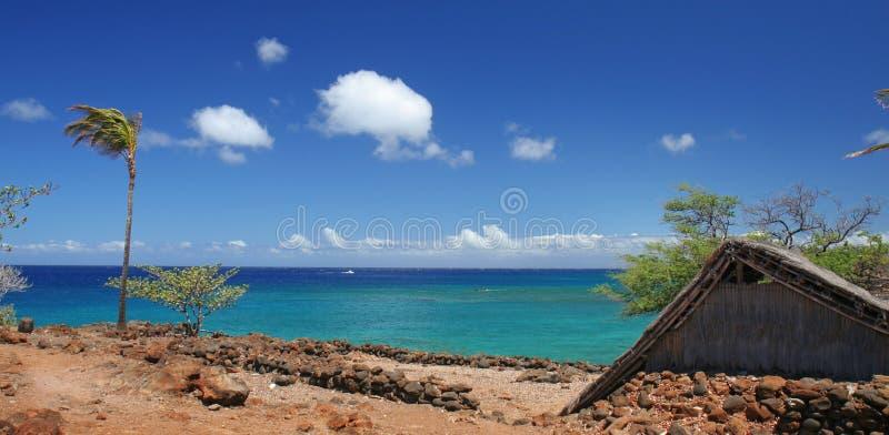 Playa tropical escénica imagenes de archivo