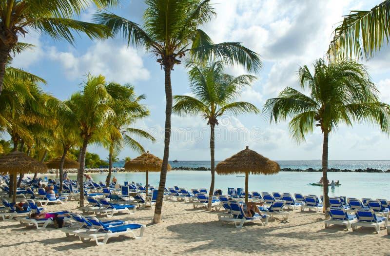 Playa tropical hermosa fotos de archivo libres de regalías