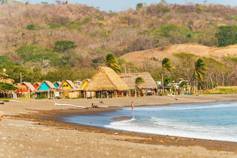 Playa Venao dichtbij Pedasi in Panama royalty-vrije stock afbeeldingen
