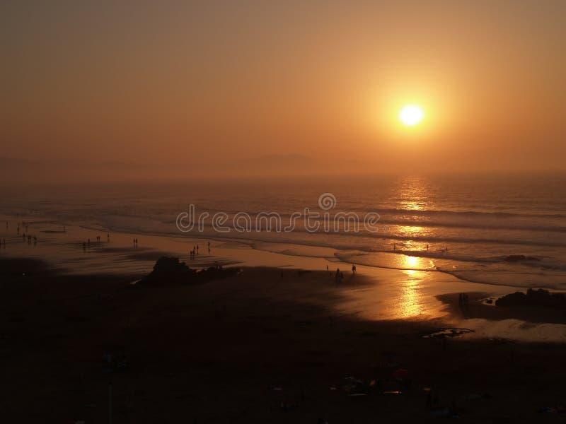 Playa VI de Sopelana fotografía de archivo